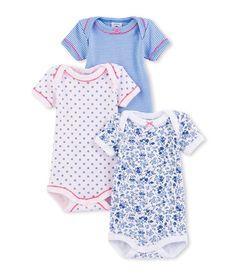 Lot de 3 bodies bébé fille imprimés Petit Bateau 2eb8e4c1323