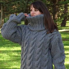 Pull gris Mohair, Pull tricot à main, Pull Crewneck, Pull Oversized, Pullover Mohair Yarn, Mohair Sweater, Gros Pull Long, Hand Knitted Sweaters, Women's Sweaters, Poncho Cape, Handgestrickte Pullover, Pull Gris, Oversized Jumper