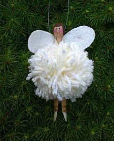 DIY: Pom pom fairy peg doll