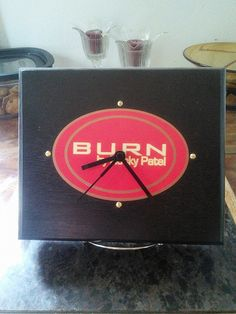 Hey, I found this really awesome Etsy listing at https://www.etsy.com/listing/214378383/rocky-patel-burn-cigar-box-clock