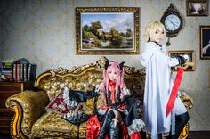 Krul Tepes + Mikaela Hyakuya cosplay (Owari no Seraph Seraph of the End)