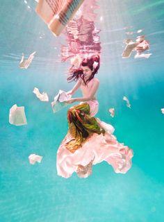 under water.