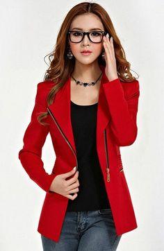 Gambar-Model-Baju-Jas-Blazer-Kerja-Wanita-Korea-Modern-Online-Terbaru-2015-Warna-Merah.jpg (400×615)