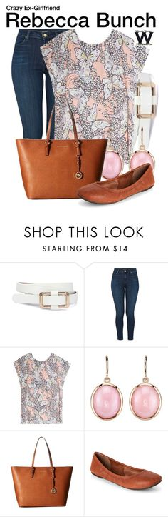 """Crazy Ex-Girlfriend"" by wearwhatyouwatch ❤ liked on Polyvore featuring J Brand, Paul & Joe, Irene Neuwirth, MICHAEL Michael Kors, Lucky Brand, television and wearwhatyouwatch"
