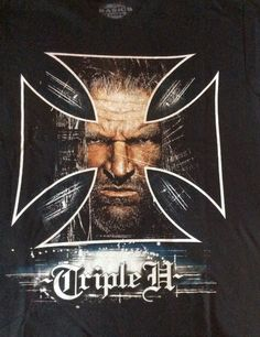 WWE Authentic Triple H Boys Black Tee Shirt Size Medium #WWE #TeeShirt