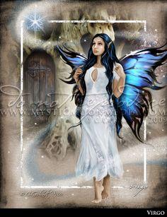 Virgo ... ZODAIC Fairy Fantasy Art...Virgin... Fairy Art... Beautiful Blue Fairy