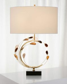 John-Richard Collection John Richard Collection Swirling Agates in Brown and Brass Table Lamp Buffet Lamps, Brass Table Lamps, Pendant Lamps, Diy Floor Lamp, Best Desk Lamp, Bedroom Lamps, Unique Lamps, Living Room Lighting, House Lighting