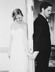 The Wedding Of Hook and Emma>>>>>>>> THIS WOULD BE ADORABLE! I'm currently smiling from ear to ear! This makes me want to barf rainbows and happiness! I absolutely love Captain Swan!