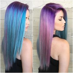 7 Hair Colors to Ring in the New Year! Hair Color Purple, Cool Hair Color, Blue Hair, Pelo Emo, Mermaid Hair, Dream Hair, Crazy Hair, Photo Instagram, Ombre Hair