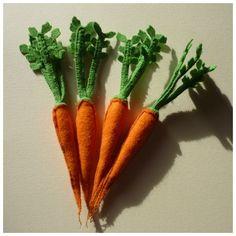 carottes avec fanes / dinette en feutrine # ma petite bohème