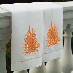 Coral Tea Towels, $22.99