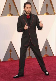 Me gusto el modelito y el modelo Jared Leto, de Gucci © Getty Images - Oscars 2016