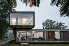 Cantilevered LP House in Brazil Displaying a Minimalist Design Throughout