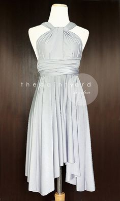 Silver Bridesmaid Dress Convertible Infinity Dress by thedaintyard