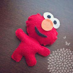 Elmo Handmade Felt Birthday Party Favor by LittleDesignShop, $4.00