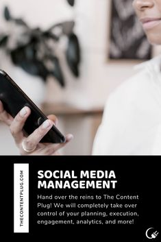The Content Plug can your accounts so you can run your business and not worry about having to post! Plugs, Accounting, Management, Social Media, Content, How To Plan, Learning, Business