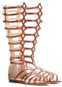 Charlotte Olympia Maya metallic leather gladiator sandals