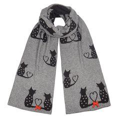Alice Hannah Flossy Cat Scarf - Fab Luxury Soft Knit
