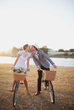 Vintage-inspired wedding shoot with bicycles... this is perfect.