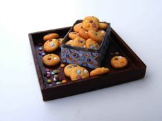 Candy cookies - Miniature in 1:12 by Erzsébet Bodzás, IGMA Artisan