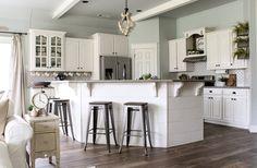 CottonStem.com farmhouse kitchen spring decor white cabinets