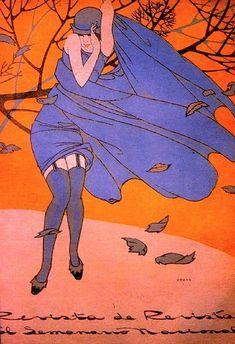 """Illustration by Ernesto """"El Chango"""" García Cabral     Revista de Revistas"""