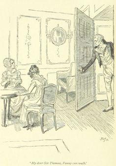 Jane Austen Mansfield Park – My dear Sir Thomas! Fanny can walk Book And Magazine, Magazine Art, Jane Austen Mansfield Park, Victorian Illustration, Jane Austen Novels, Fashion Sketches, Fashion Drawings, Classic Literature, Pride And Prejudice