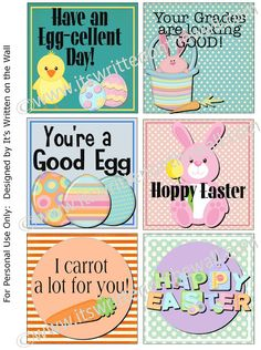 #30 Free Printable Spring/ Easter Lunchbox Notes !