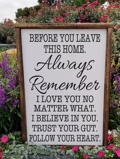 Family Wood Signs, Diy Wood Signs, Rustic Wood Signs, Pallet Signs, Always Remember Me, Country Farmhouse Decor, You Left, Home Signs, Entryway Decor