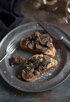 Savory mushrooms on toast sound like a satisfying Sunday supper.