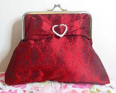 Diamante silk Brocade Evening Bag