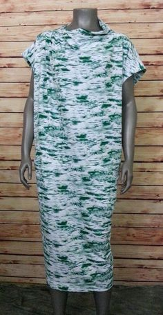 9ab6c3295a8 Lane Bryant shift dress pockets womens size 26   28 green white career  casual