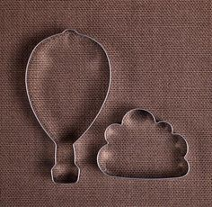 These cookie cutters are stinkin adorable!  A hot air balloon and a cloud - perfect!