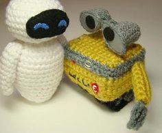Eva and Wall E crochet for Kaitlyn