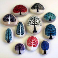 idées-déco-galets-rivière-peint-dessins-arbres Plus