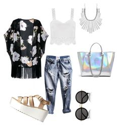 Kimono, kimono by pinkdaisyprincess on Polyvore featuring moda, Charlotte Russe, GUESS, Lucky Brand and The Row