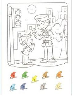 Transportation Preschool Activities, Transportation Unit, Math Activities, Community Helpers, Coloring Books, Comics, Painting, Number, Art