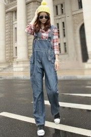 Loose Style Rolled Lower Jumpsuit  $76.99    romwe.com