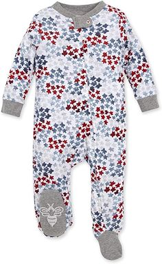 Amazon.com: Burt's Bees Baby Baby Sleep & Play, Organic One-Piece Romper-Jumpsuit PJ, Zip Front Footed Pajama, Starry Night Sky, Newborn: Clothing Cute Babies, Baby Kids, Baby Boy, Baby Girl Pajamas, Coming Home Outfit, Unisex Baby Clothes, Burts Bees, Baby Store, Stripes Design