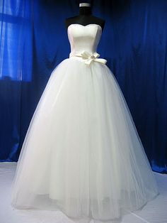 Satin and Tulle Bridal Gown JW58150 by DreamBridal on Etsy, £350.00