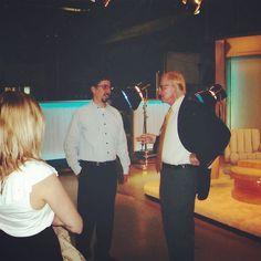 Great memories of meeting the amazing John #McLaughlin on the set of The McLaughlin Group. RIP John - bye bye. #politics #washington #dc #pundit #trailblazer #wrong