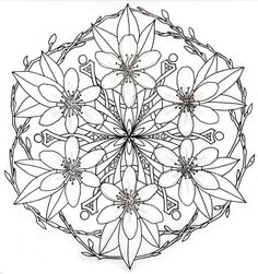 Facets and Fractals: Almond blossom mandala