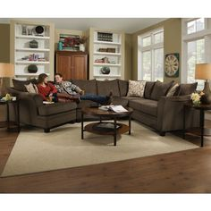 Genial United Furniture Industries 6483 Transitional Sectional Sofa With Rounded  Track Arms
