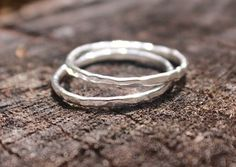 Sterling Silver Hammered Stacking Rings MountainMetalcraft@etsy.com