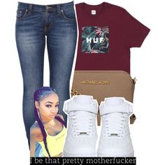 Her pistol go 'bang bang boom boom pop pop by g0lden-twins on Polyvore featuring Nudie Jeans Co., NIKE and MICHAEL Michael Kors