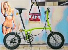 Velo Brompton, Mini, Cool Bicycles, Cycling, Style, Folding Bicycle, Veils, Bicycles, Bicycle