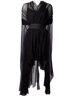 Louiza Babouryan Waterfall Cape Dress - - Farfetch.com