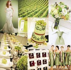 Leaf green, white, brown / A Wedding Sketchbook by Michelle Mospens