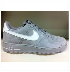 sports shoes a766b 6bf87 NIKE Air Force 1 07 Low Grey Suede White