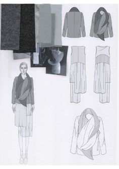 Fashion Sketchbook - fashion design development; fashion illustration; mood research; fashion portfolio // Emily-Mei Cross